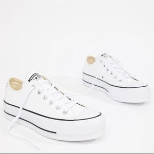 Converse all stars leather platform sneakers